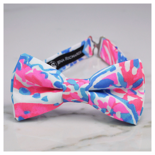 Pop pop fabric bow tie