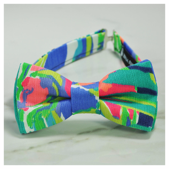 Purrfect fabric bow tie