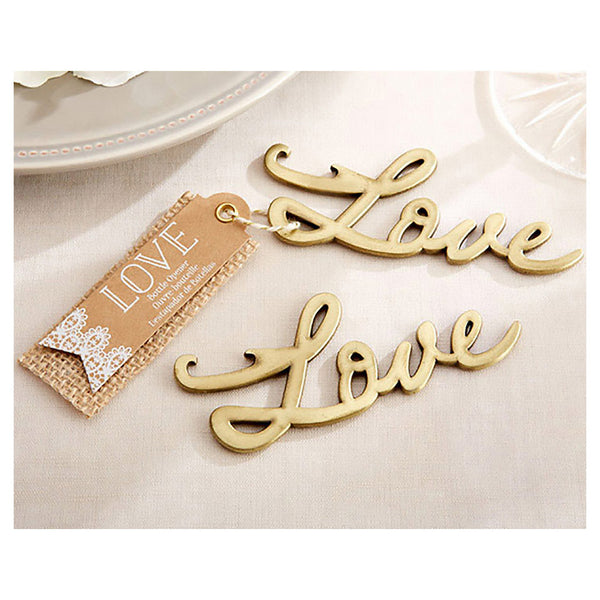 Love bottle opener favor