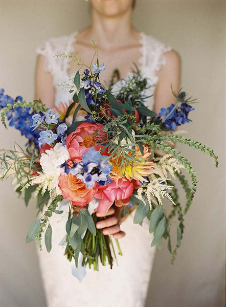 Beautiful natural bridal bouquet