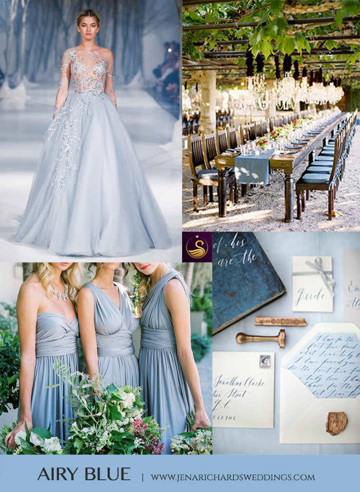 Airy Blue wedding inspiration