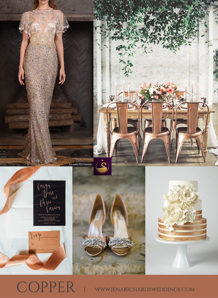 Copper wedding ideas and inspiration