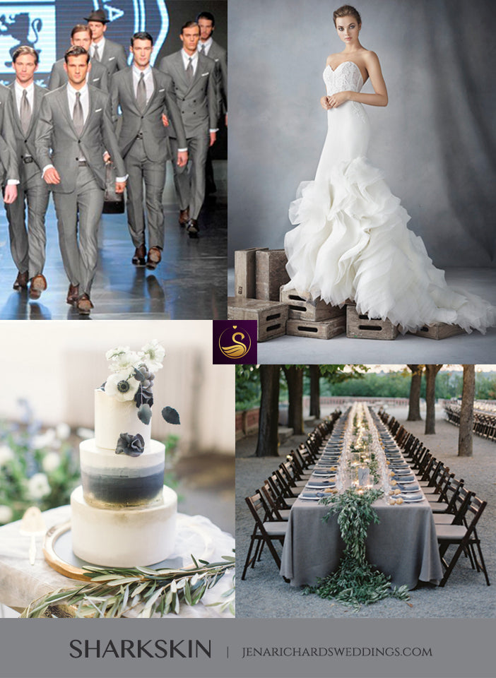 Sharkskin gray wedding inspiration