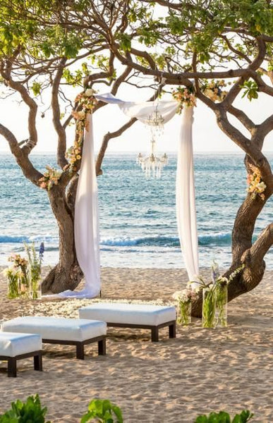 Ceremony site on the beach