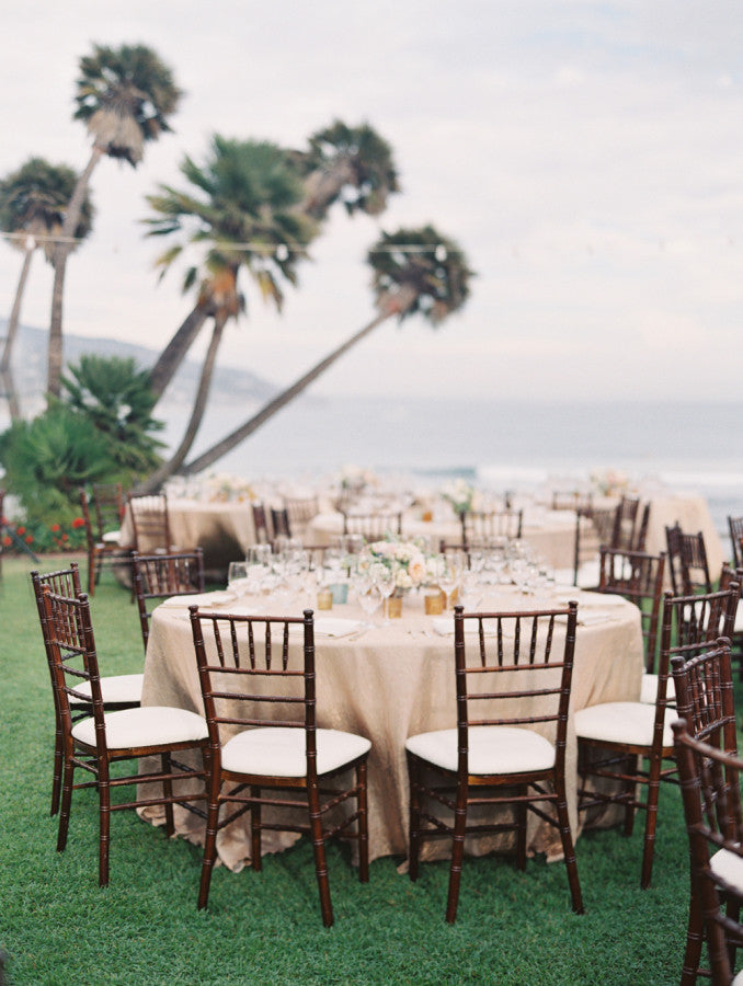 Wedding reception decor by the beach