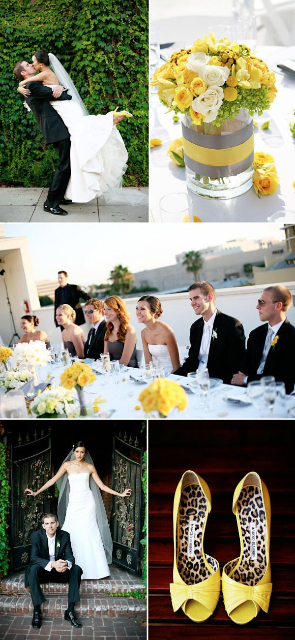 Buttercup yellow wedding color palette