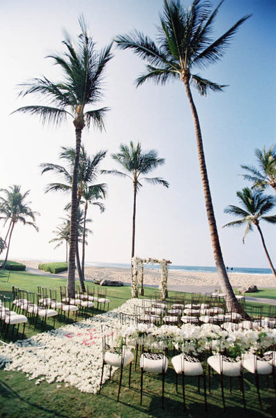 Beach ceremony site