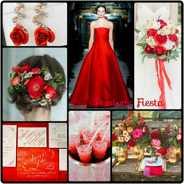 Fiesta Red wedding inspiration board