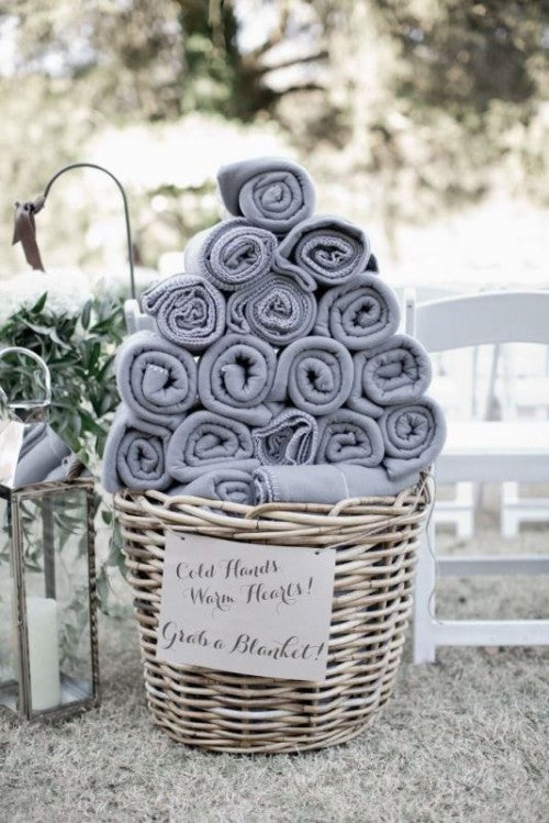 Blanket display for wedding guests