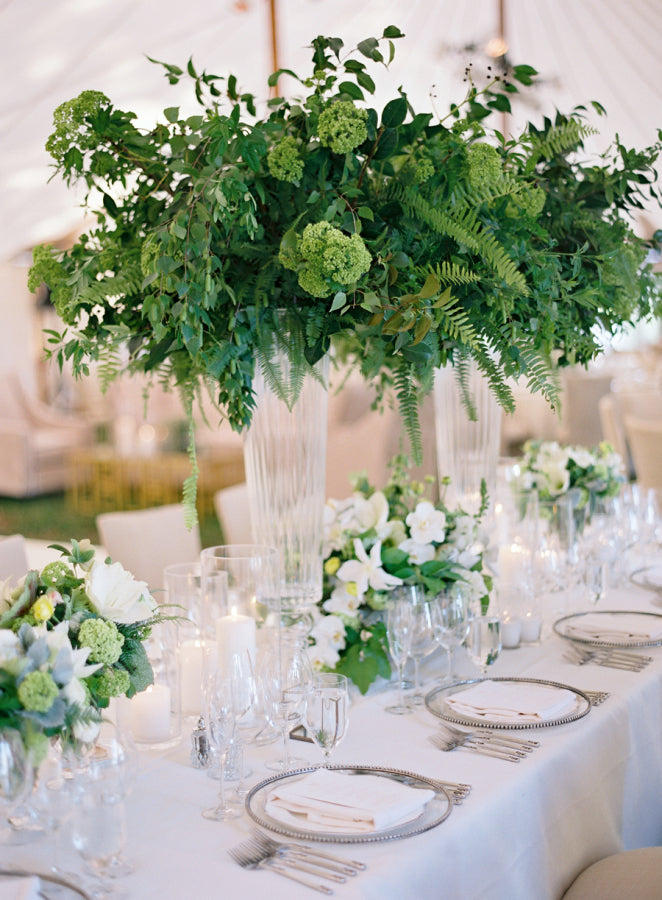 Table decor with greenery