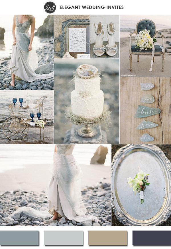 Gray and neutral wedding inspiration