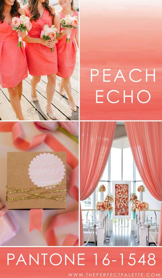 Peach Echo wedding palette