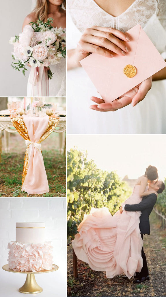 Blush and gold wedding ideas