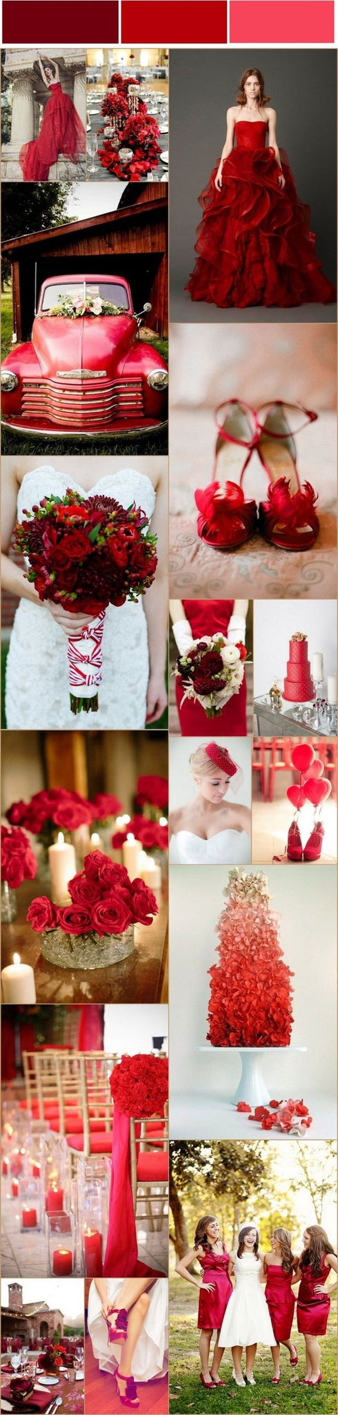 Red wedding inspiration