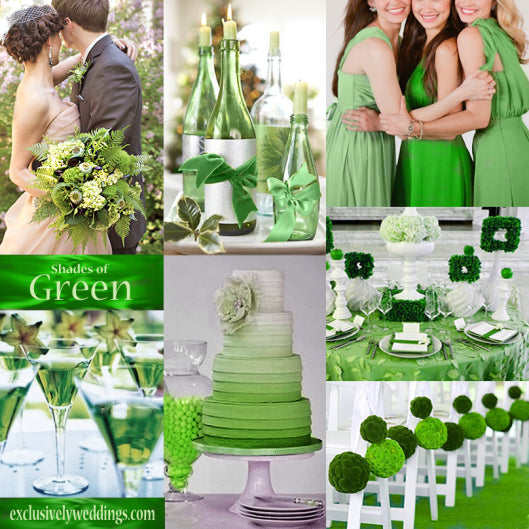Green flash wedding ideas
