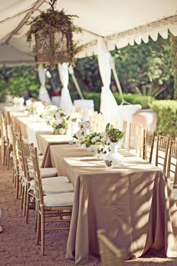 Taupe table decor