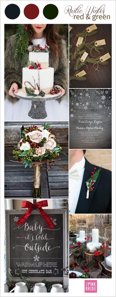 Red and green wedding ideas