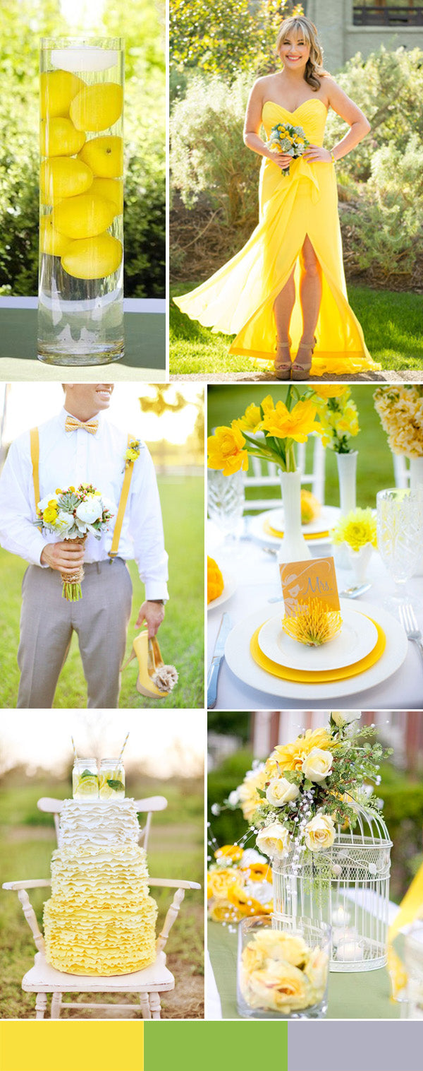 Yellow inspiration and ideas for weddings