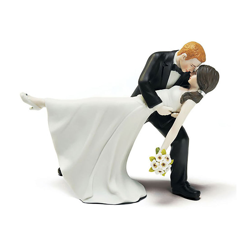 A Romantic Dip cake topper