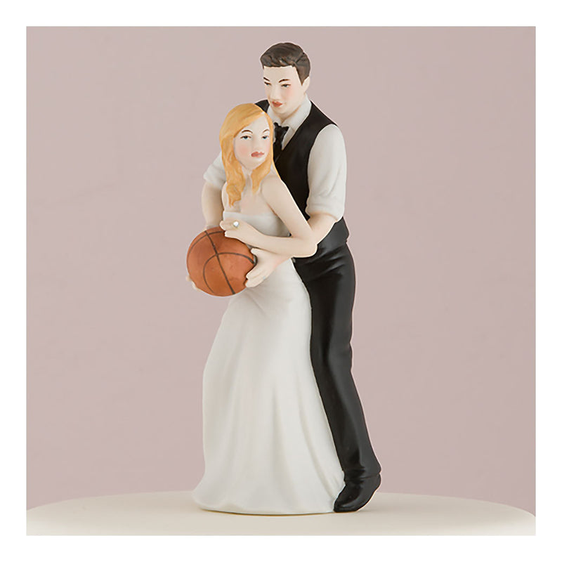 Basketball cake topper figurine