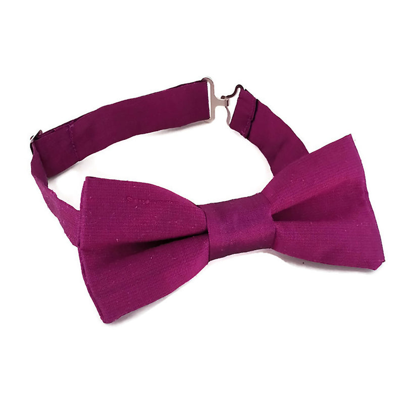 Silk red bordeaux bow tie