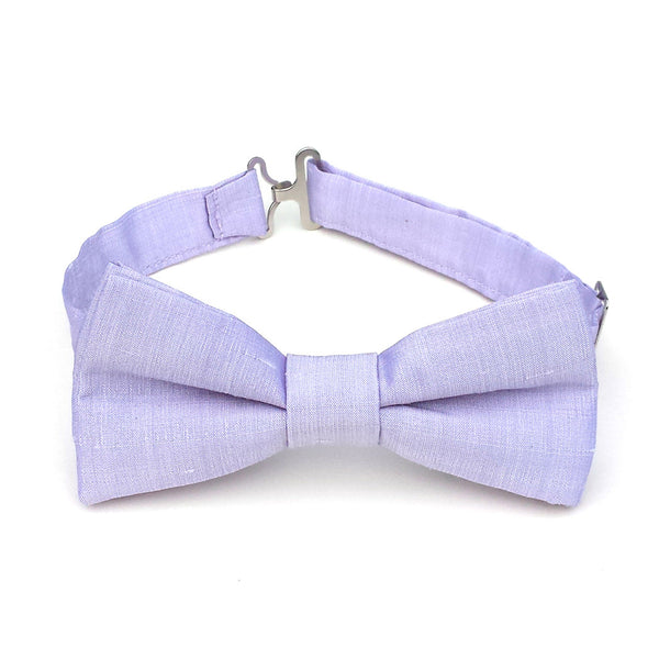 Lavender silk bow tie for boys and men
