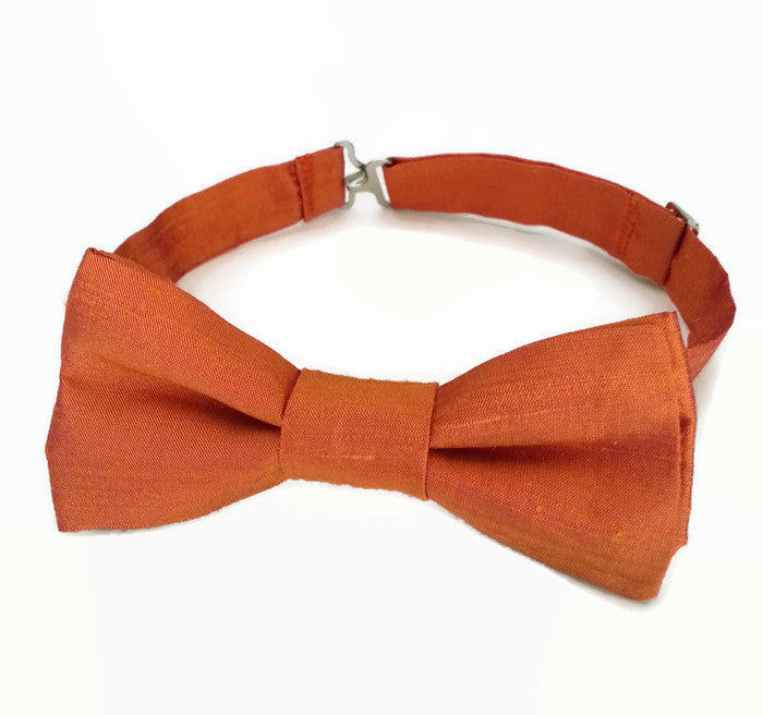 Burnt orange bow tie