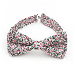 Pink and aqua bow tie for boys and men