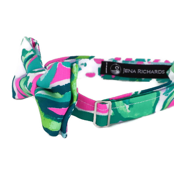 Green, Teal and Bright Pink Bow Tie for Boys and Baby