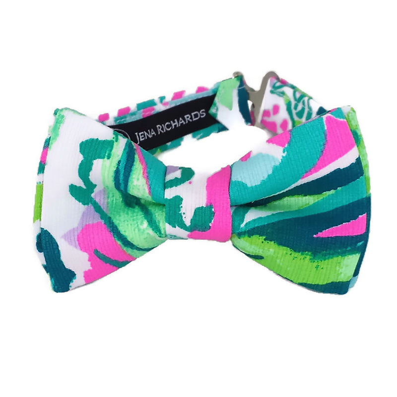 Green, Teal and Bright Pink Bow Tie for Men, Boys and Baby