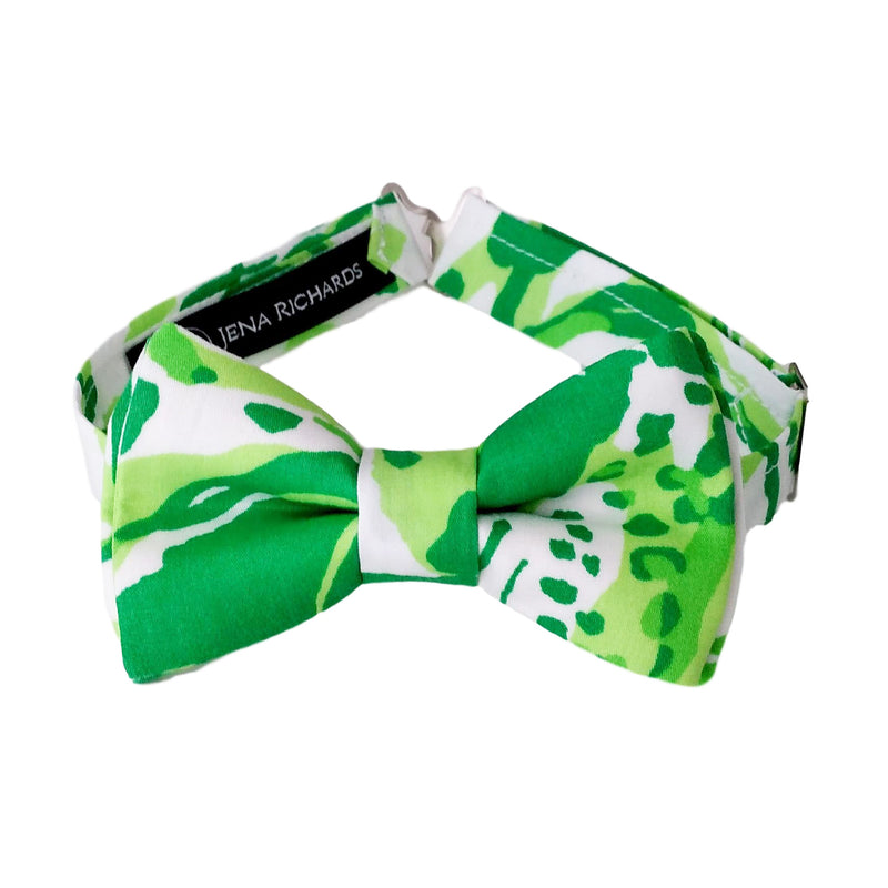 Bold Green Bow Tie for Boys, Men and Baby