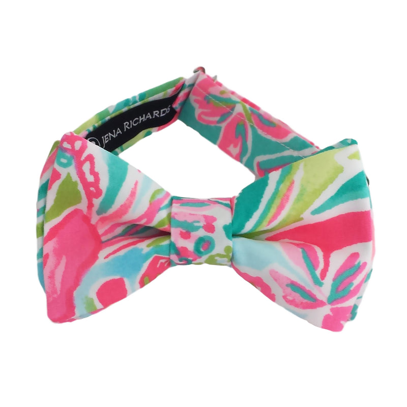 Vivid Pink, Green and Teal Bow Ties for Boys, Baby and Men