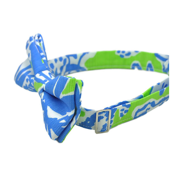 Blue and Lime Green Bow Tie