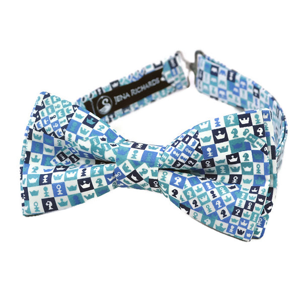 chess print bow tie