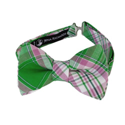 Green Plaid Bow tie for Boys and Babies