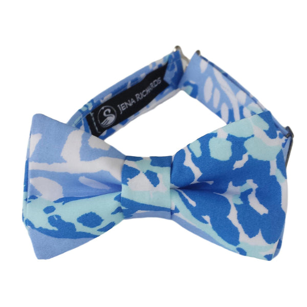 Blue and White Bow Tie for Boys, Babies and Men