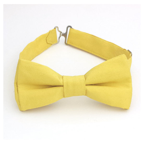 Lemon yellow bow tie for men and boys