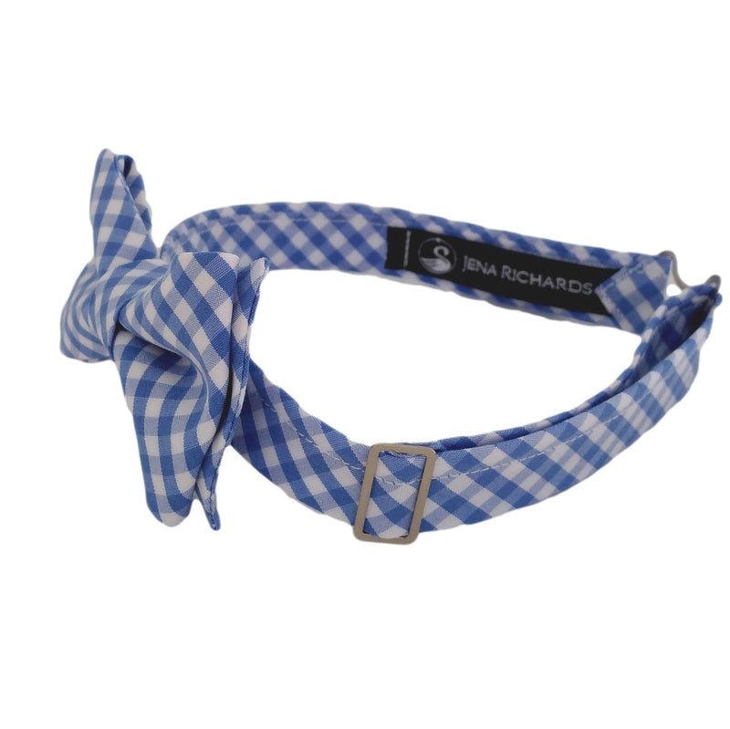 Light Blue Gingham Bow Tie for Boys, Baby and Men