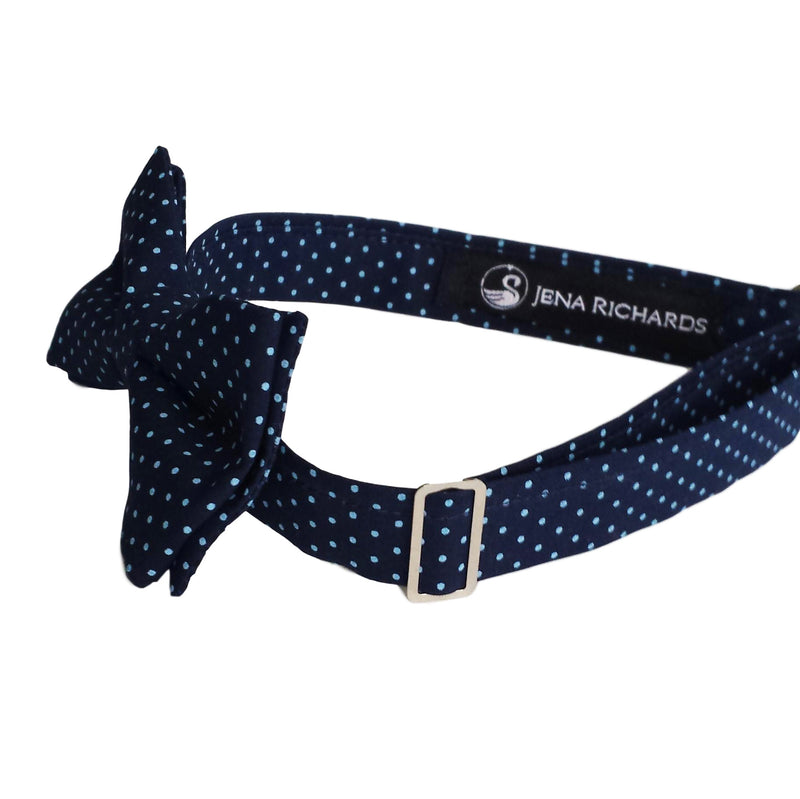 Navy Polka Dot Bow Tie for Boys, Baby and Men