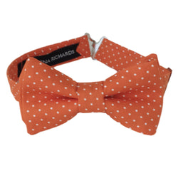 Boys Orange Polka Dot Bow Tie