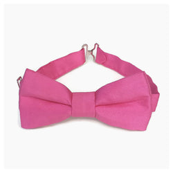 Hot pink silk bow tie
