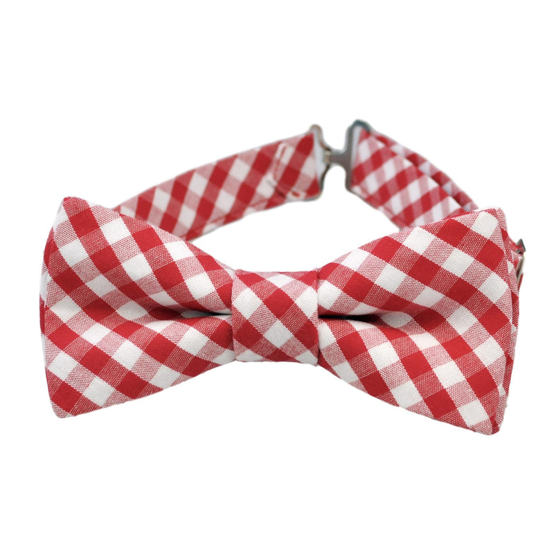 Red Gingham Bow Tie for Boys and Men