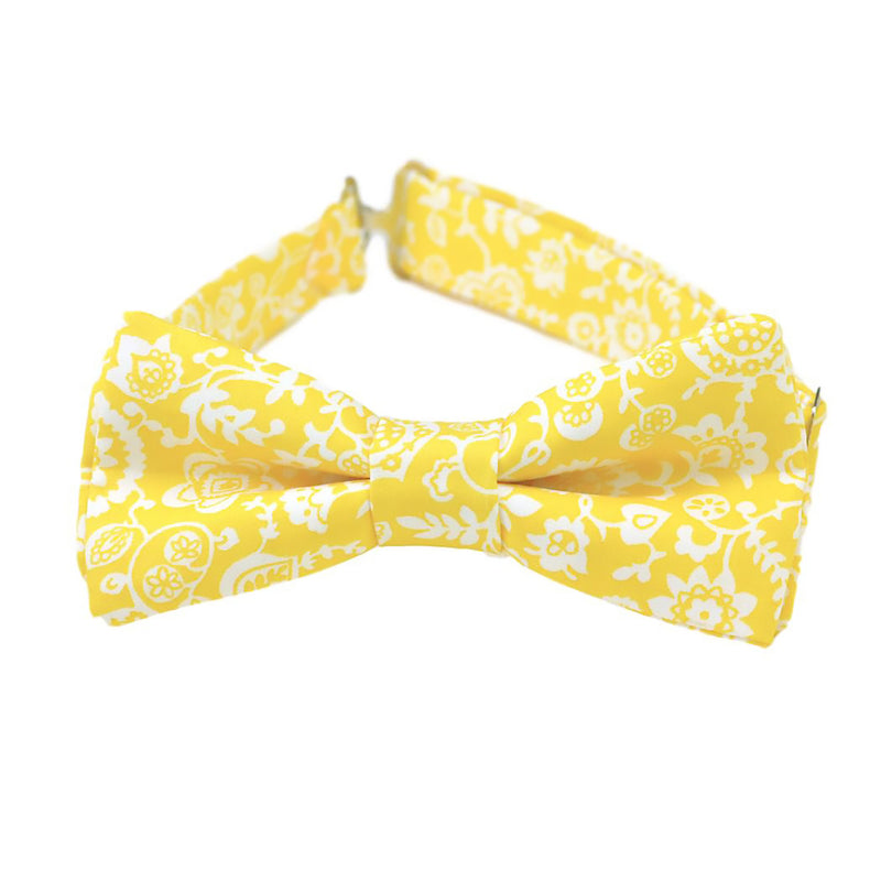 Yellow Floral Bow Tie