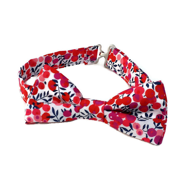 Red Bow tie in Liberty of London cotton
