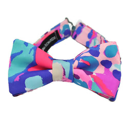 colorful shell out bow tie