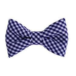 Navy Gingham Dog Bow Ties