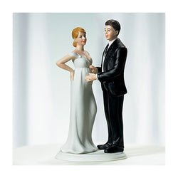 Expecting bride and groom cake topper