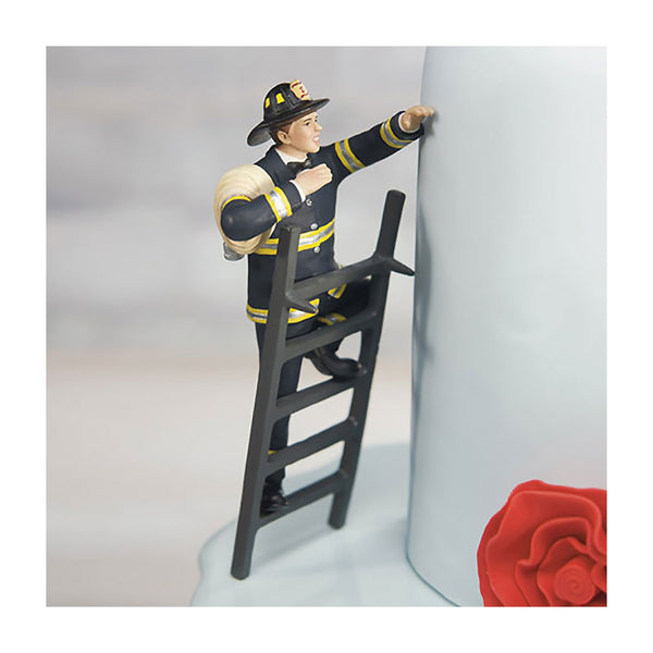 Fireman to the Rescue cake topper