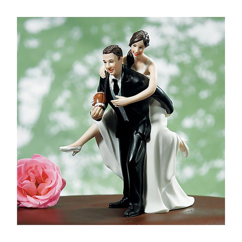 Football Couple cake topper light skin