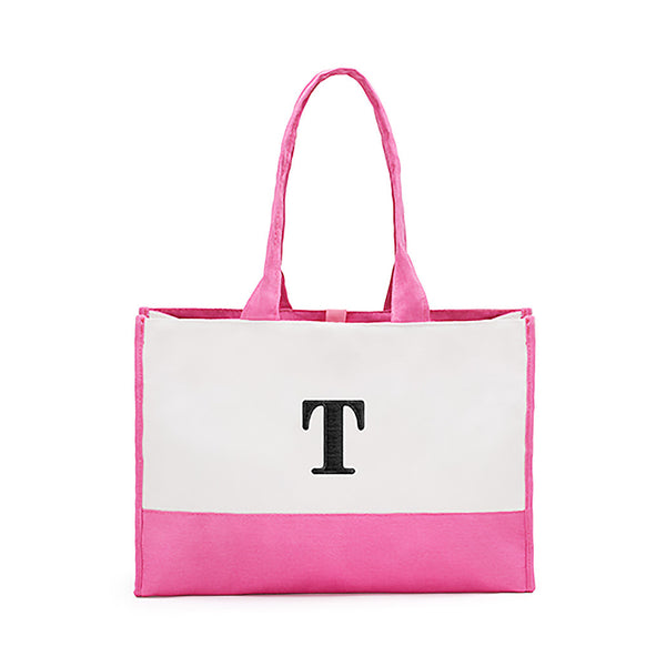 Hot pink bridesmaids tote bag